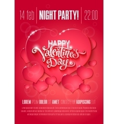 Valentine day flyer vector