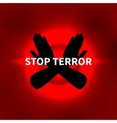 Stop terror vector