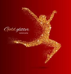 Glitter Jump woman 03 z Runing man 02 05 vector image