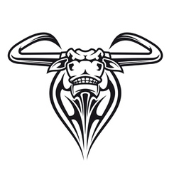 Wild buffalo bull head vector image