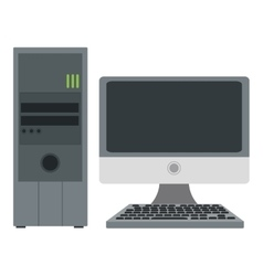 Computer monitor and cpu unit vector