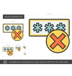 Access denied line icon vector