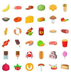 Banana icons set cartoon style vector