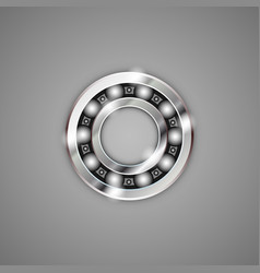 bearings metal vector image