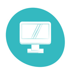 Computer screen device icon color vector