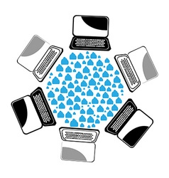 Computers icon vector image