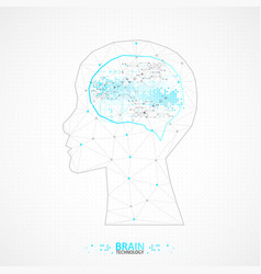 Creative brain concept background with triangular vector