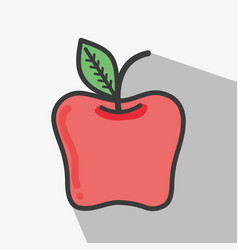 Delicious apple tasty fruit icon vector