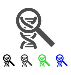 Dna analysis icon vector
