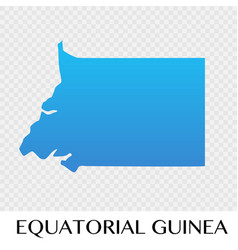 Equatorial guinea map in africa continent vector