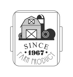 Farm product since 1967 logo black and white vector