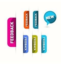 Feedback and new icons set isolated on white vector