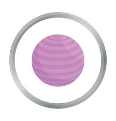 Fitness ball icon cartoon single sport icon from vector