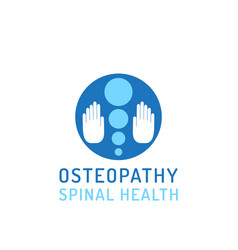 Flat logo osteopathy vector