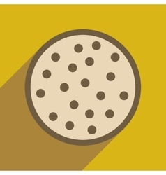Flat web icon with long shadow cookie vector