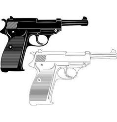 Gun Silhouette vector image vector image