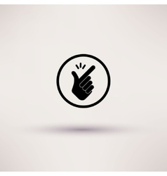 Icon - snap of the fingers vector