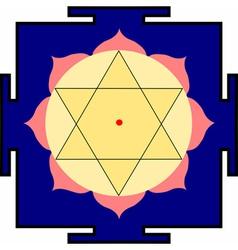 krishna yantra vector image vector image
