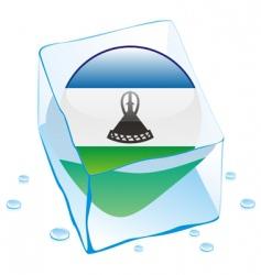 Lesotho flag vector image vector image