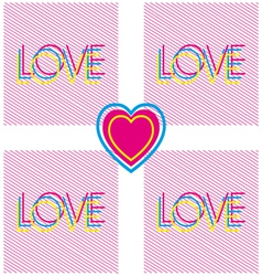 Love and heart modern poster vector
