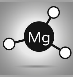 magnesium icon mg molecule with round attoms vector image