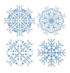 Modern snowflakes vector