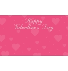 On pink background valentine greeting card vector