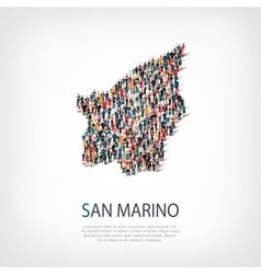 people map country San Marino vector image