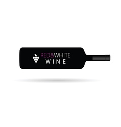 red and white wine horizontal vector image vector image
