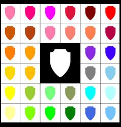 Shield sign felt-pen 33 vector