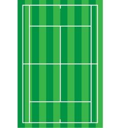 sport tennis court vector image vector image