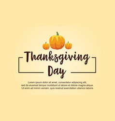 Thanksgiving day style card collection vector