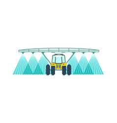 Tractor watering field icon vector