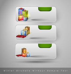 Winter stickers with gifts design elements without vector image