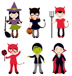 Halloween kids set vector
