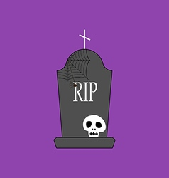 Headstone and skull vector