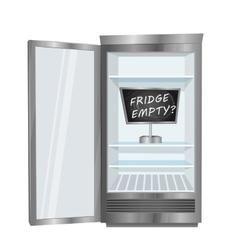 Empty fridge concept in flat design vector