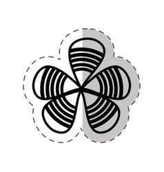 Flower decoration petal cut line vector