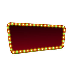 Red street marquee sign with light and blank space vector
