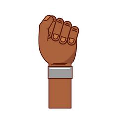 Hand human fist icon vector
