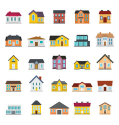Set houses buildings and architecture variations vector