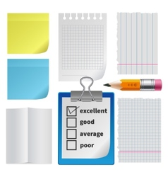 Note paper office set vector