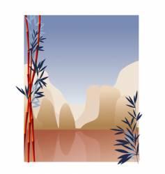 Oriental mountains vector
