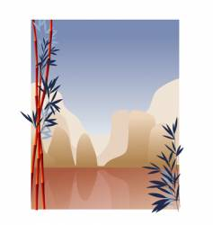 oriental mountains vector image
