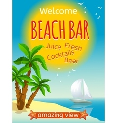 Beach bar poster vector