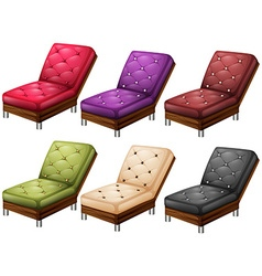 Chairs in different colors vector