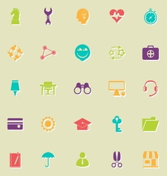 Human resource flat icons with shadow vector