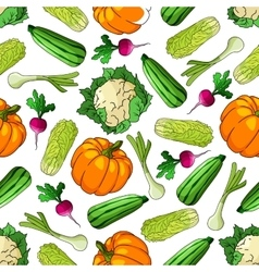Ripe farm vegetables seamless pattern vector image
