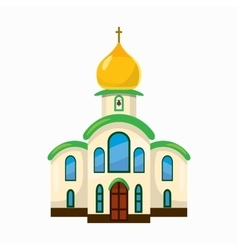 Building church icon cartoon style vector