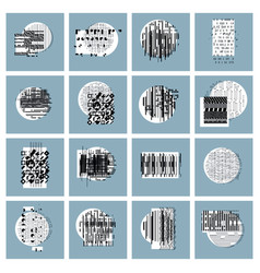 abstract geometric compositions set backgrounds vector image